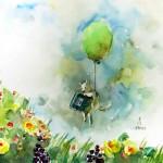 スケッチは風船に乗って / Go for sketching by balloon